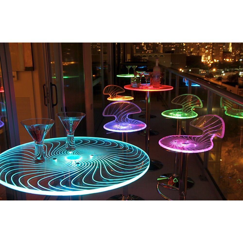 Spyra LED Light-up Bar Table Furniture Accent Decor Party
