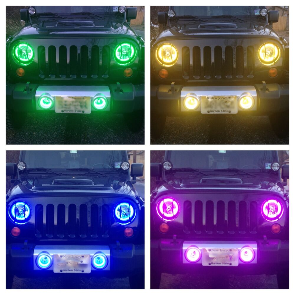 2007 2014 Kc Jeep Wrangler Jk Fog Lights Housings With Rgb