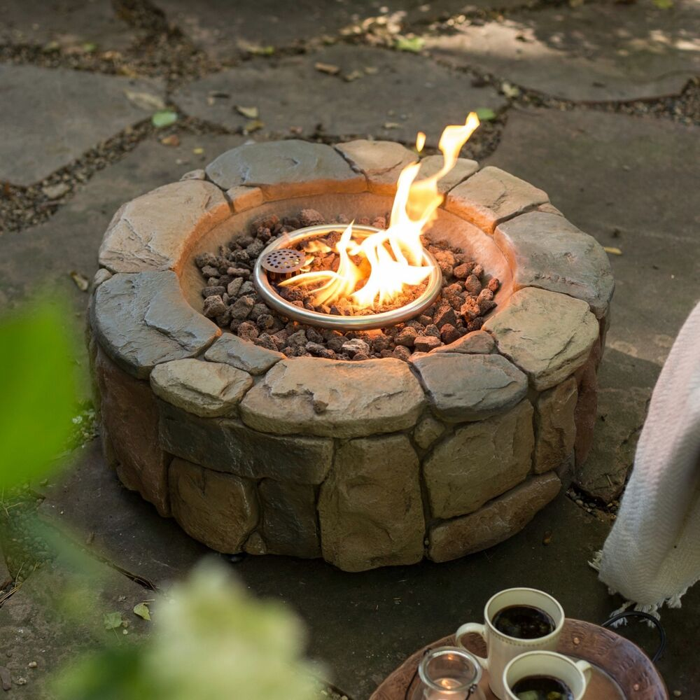 outdoor fire pit fireplace campfire patio deck backyard heater lava