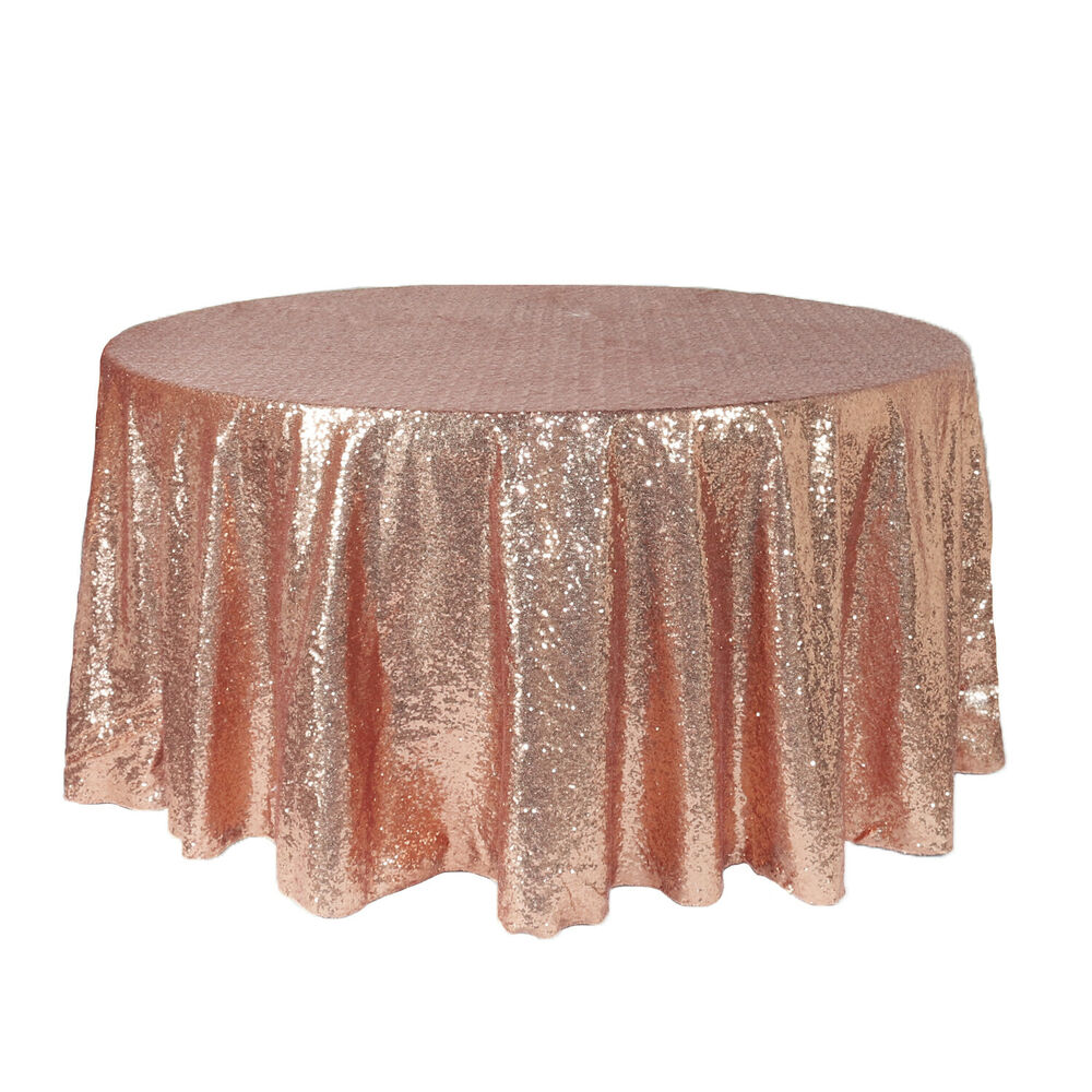 120 inch round glitz sequin tablecloths blush ebay for 120 inch round table cloths