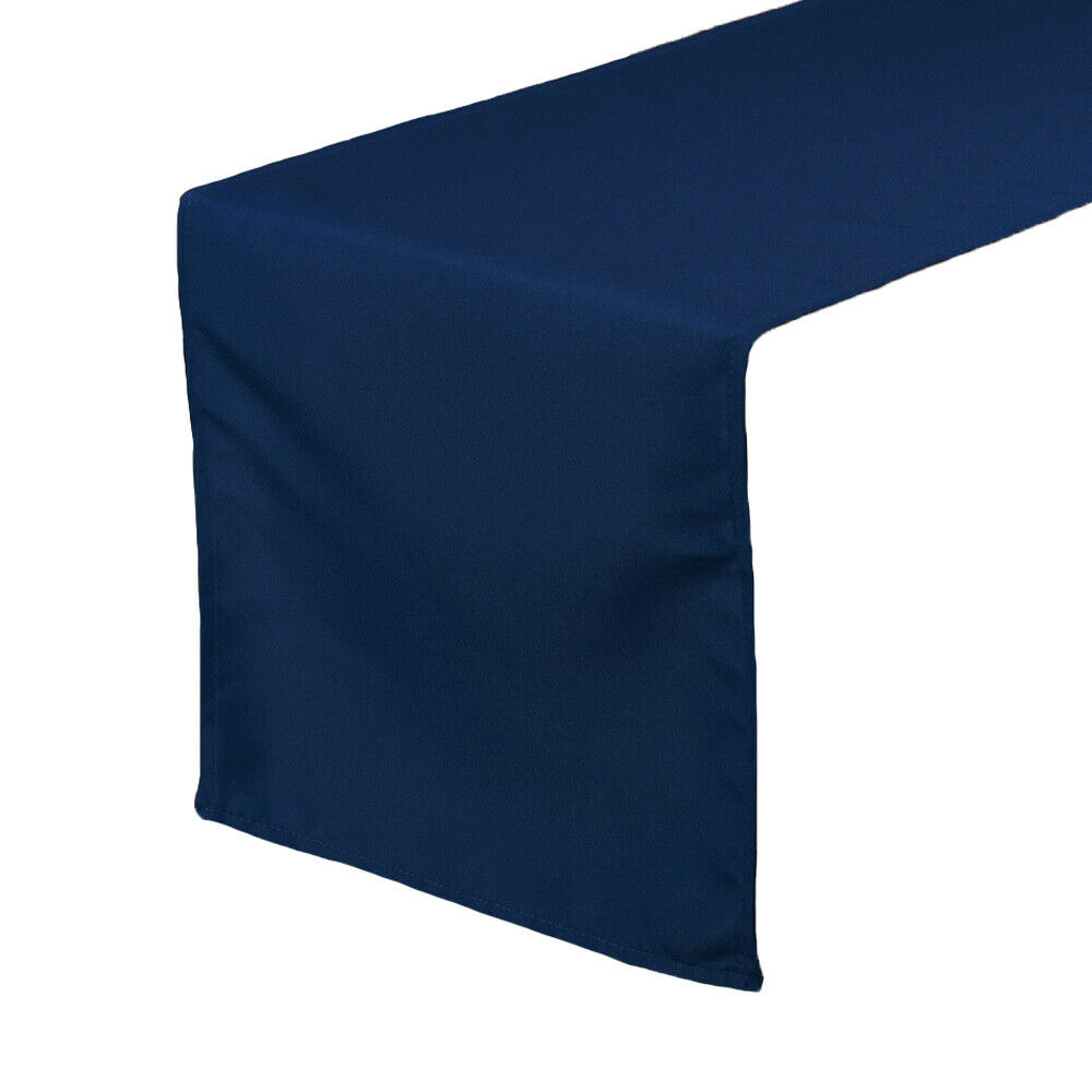 14 x 108 inch polyester table runners navy blue ebay for 108 table runner