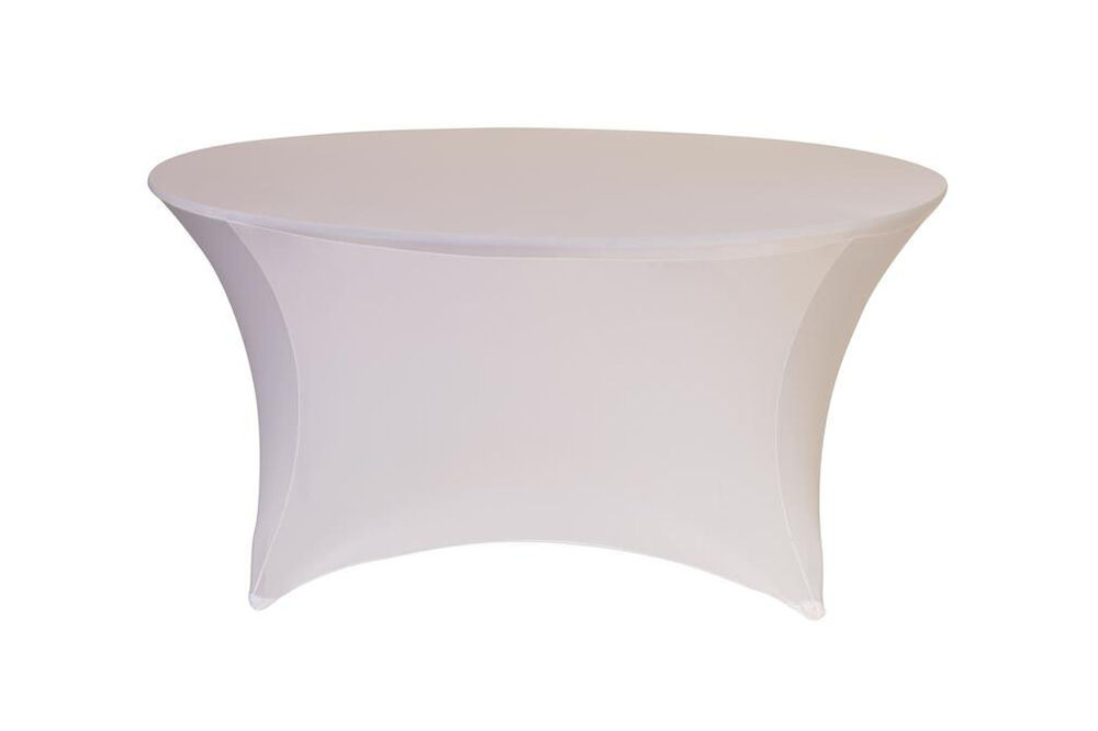 Stretch Spandex 5 ft Round Table Covers White : eBay