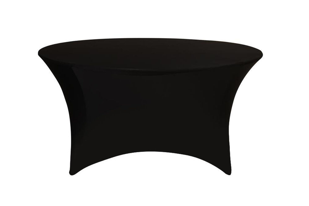 Stretch Spandex 5 Ft Round Table Covers Black Ebay
