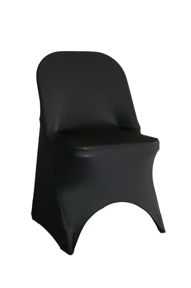 Spandex Folding Chair Covers Black