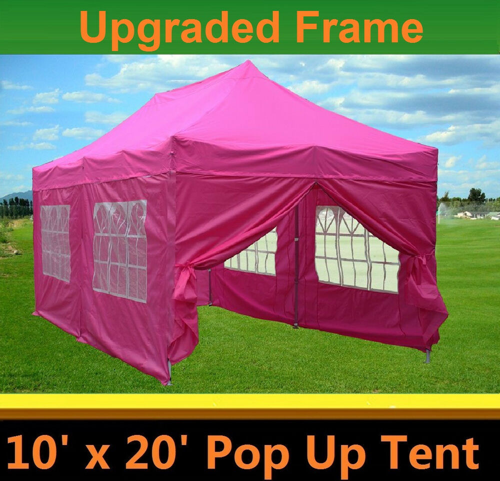 10 X20 Pop Up Canopy Party Tent Pink F Model Upgraded