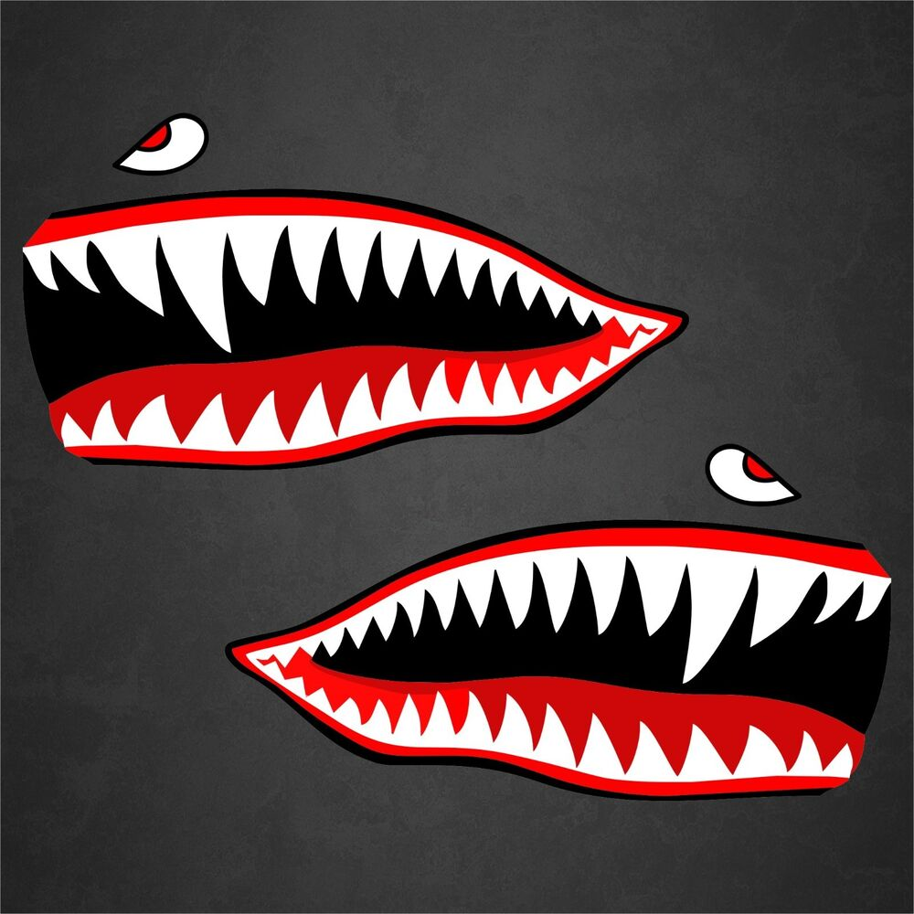 2 11 Quot X21 Quot Flying Tigers Wwii Shark Teeth Stickers Decals