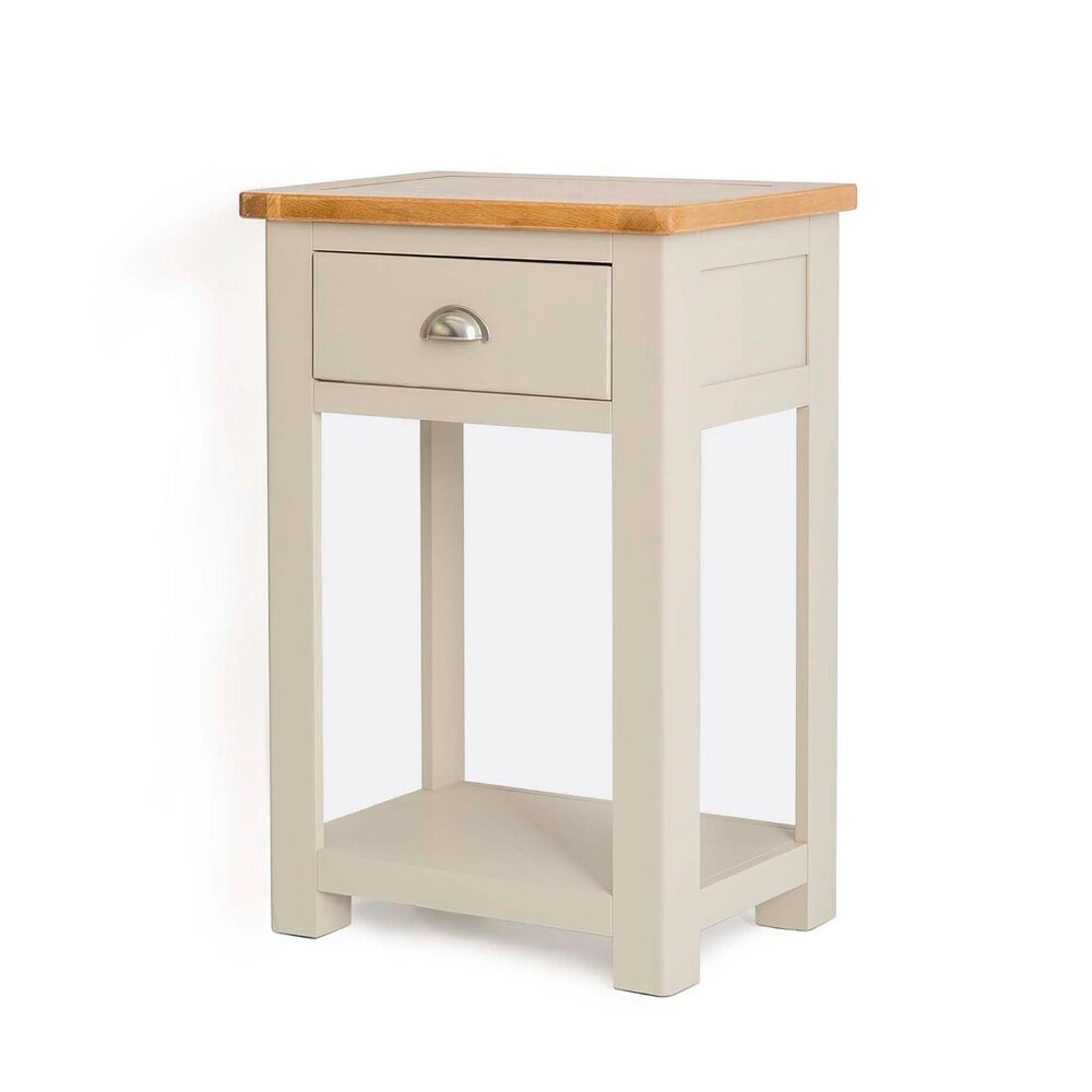 Padstow Painted Telephone Table Solid Wood Grey Painted