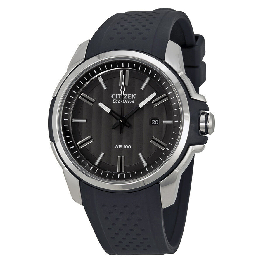 Citizen ar eco drive black dial mens watch aw1150 07e ebay for Eco drive watch
