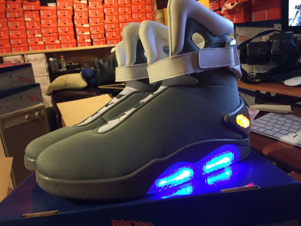 back to the future ii light up shoes sneakers marty mcfly size ebay. Black Bedroom Furniture Sets. Home Design Ideas