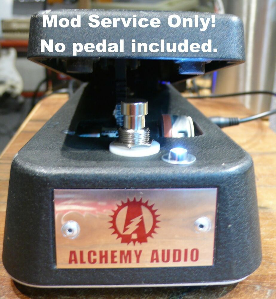 modify your dunlop cry baby wah mod service only true bypass led alchemy audio 710137006171 ebay. Black Bedroom Furniture Sets. Home Design Ideas