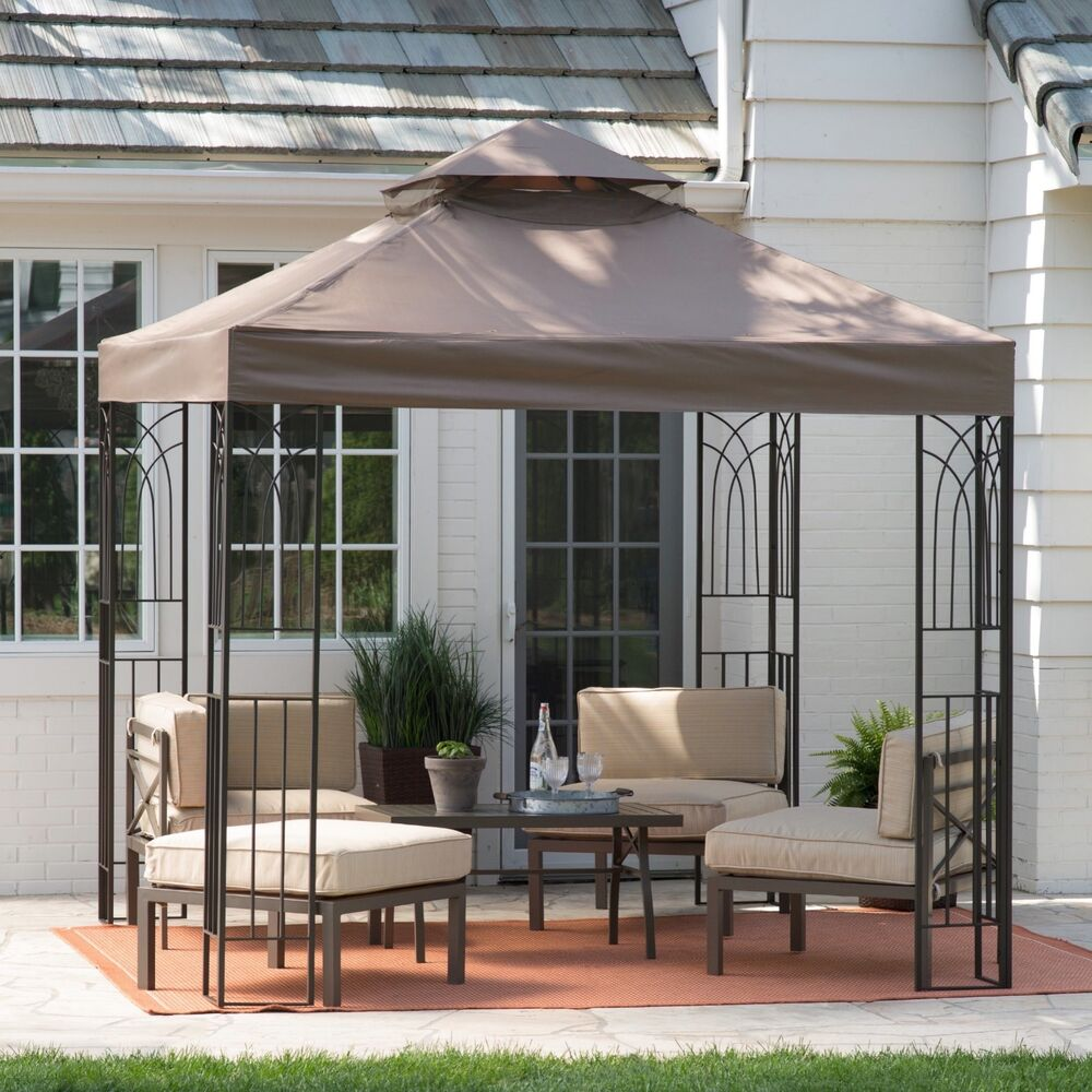 Gazebo canopy tent cover shelter shade 8x8 pergola outdoor yard patio