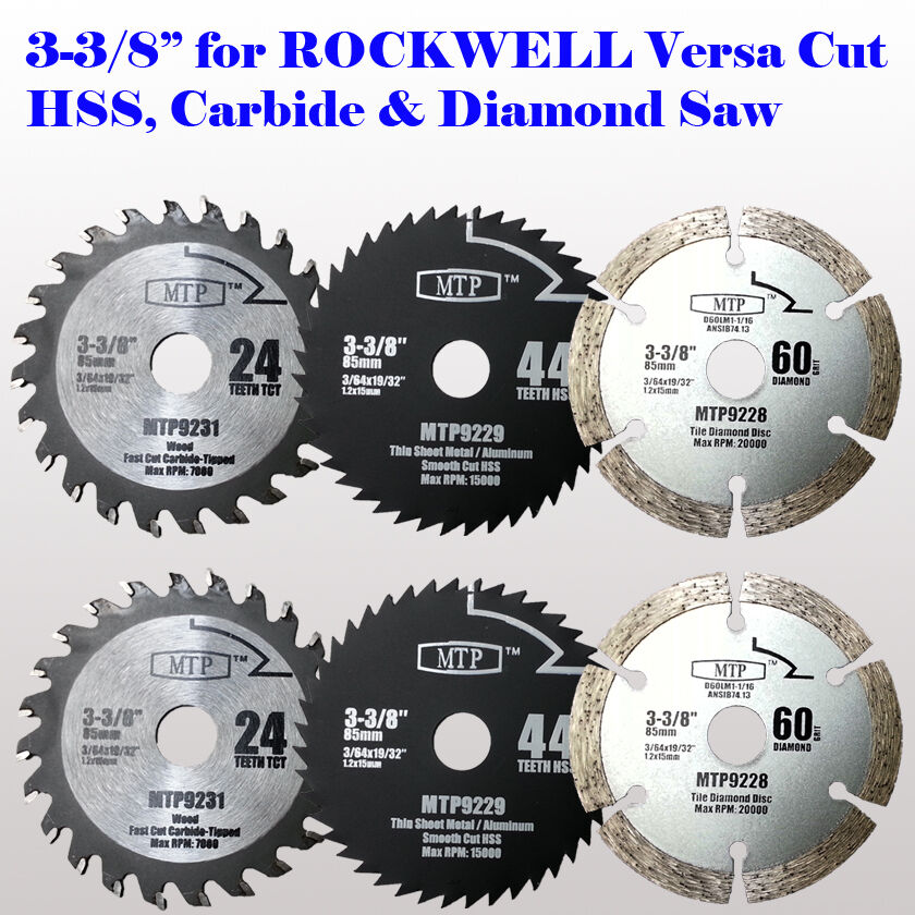 6x 3 3 8 Quot Inch Metal Wood Tile Saw Blade For Rockwell