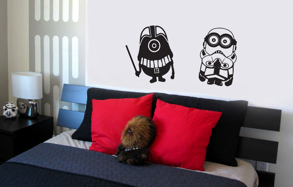 minion room decor wars minions wall decal vinyl lettering sticker 12408