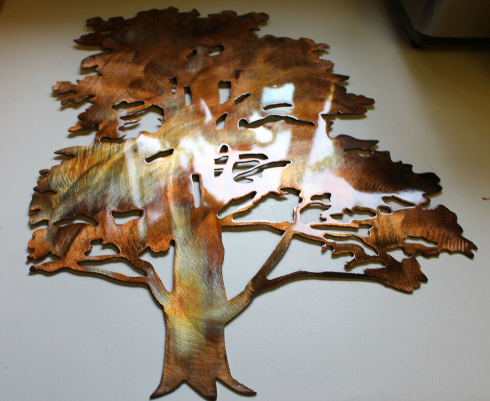 Cedar Tree Metal Wall Art Decor