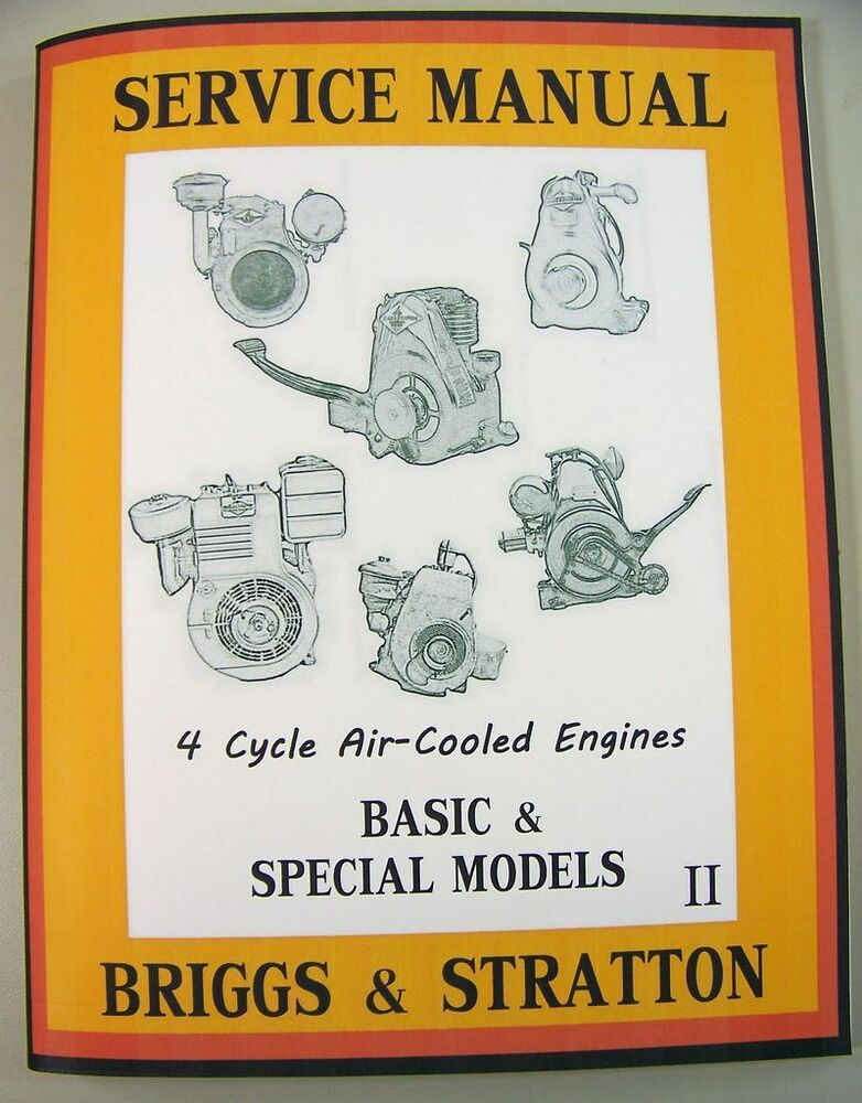 Briggs Stratton 6br6 8bs 8bsfb Engine Service Shop Manual Guide