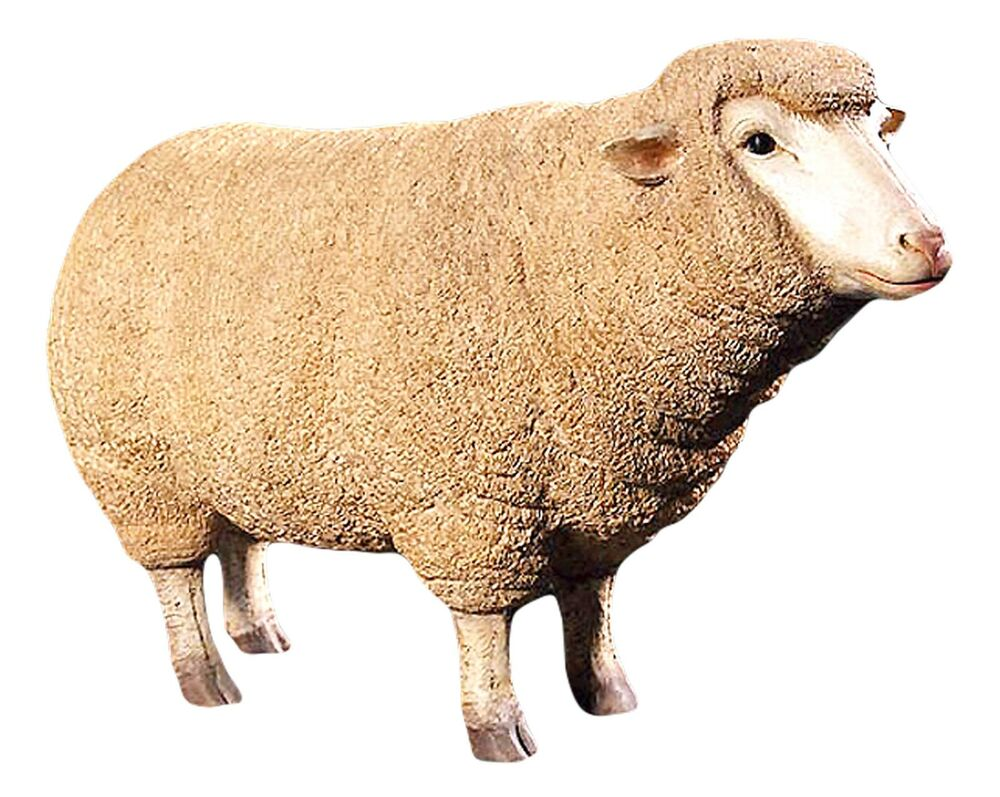 Life Size Merino Ewe Sheep Statue Garden Indoor Patio Lawn