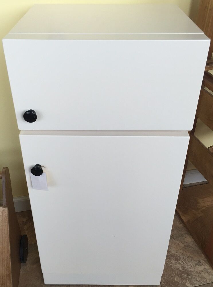 Play Toy Kitchen Refrigerator White Wooden Playroom