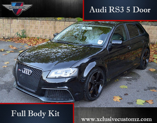 audi rs3 5 door body kit for audi a3 8p 2004 to 2009. Black Bedroom Furniture Sets. Home Design Ideas
