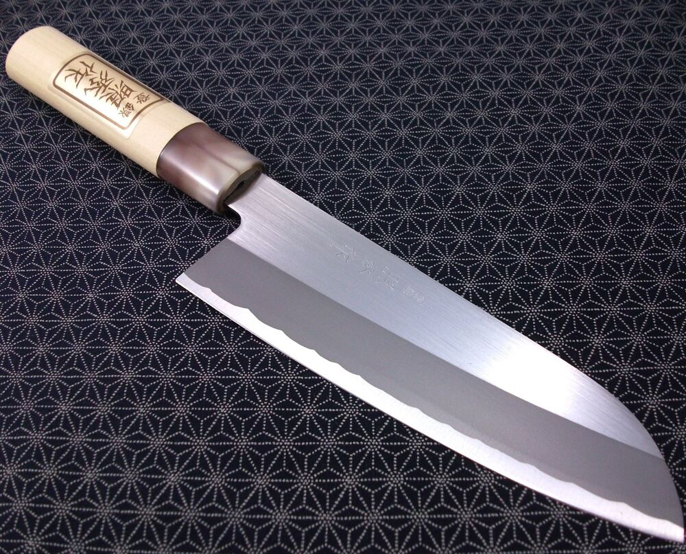 Japanese Santoku Kitchen Knife Teruhide Wooden Handle