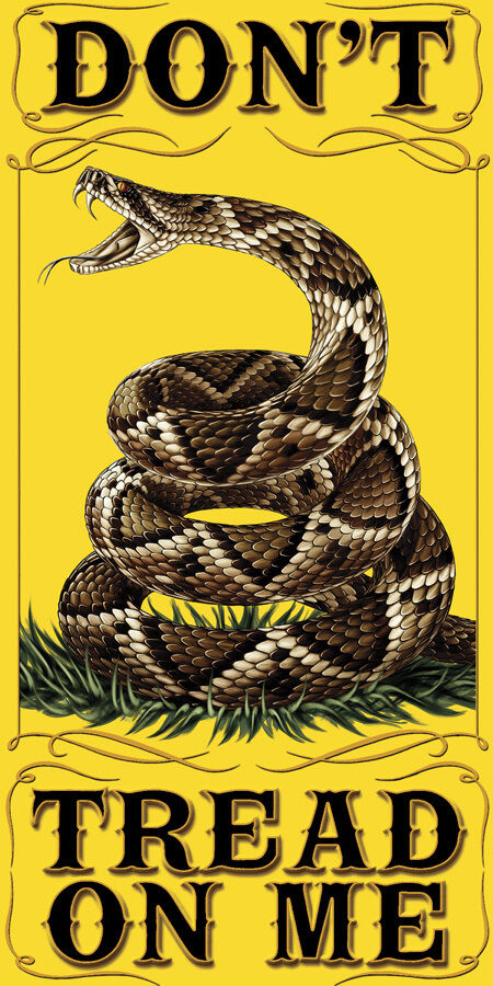 New DON'T TREAD ON ME 30 X 60 TOWEL / FLAG / PENANT ...