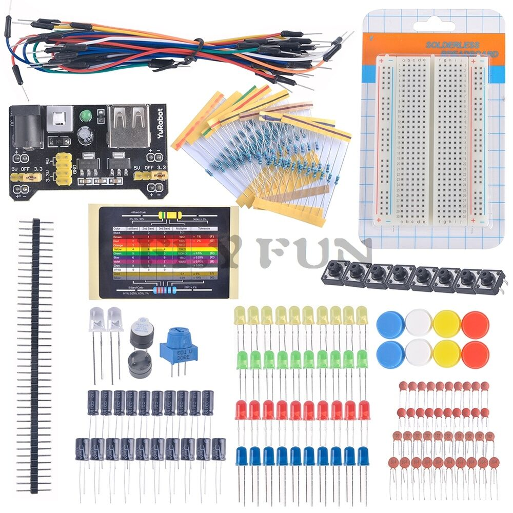 electronic fans kit starter learn kits breadboard led cable resistor capacitor ebay. Black Bedroom Furniture Sets. Home Design Ideas