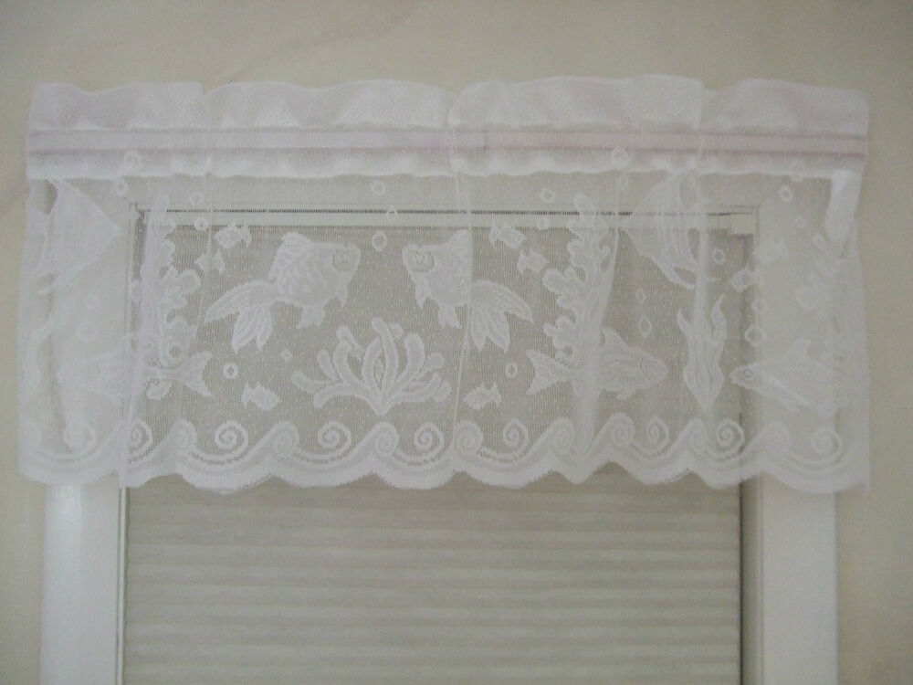 New Coastal Lace Fish Sea Ocean Beach Nautical Ivory