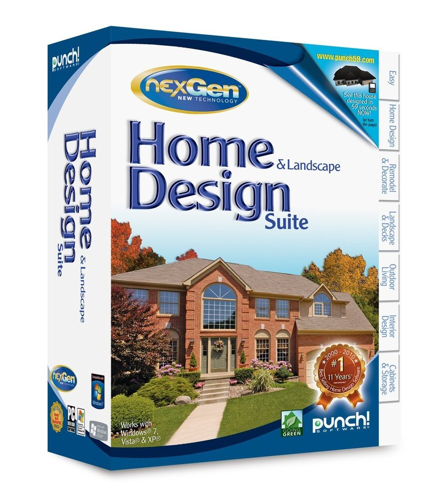 Punch home land design nexgen for pc new sealed for Home and land design