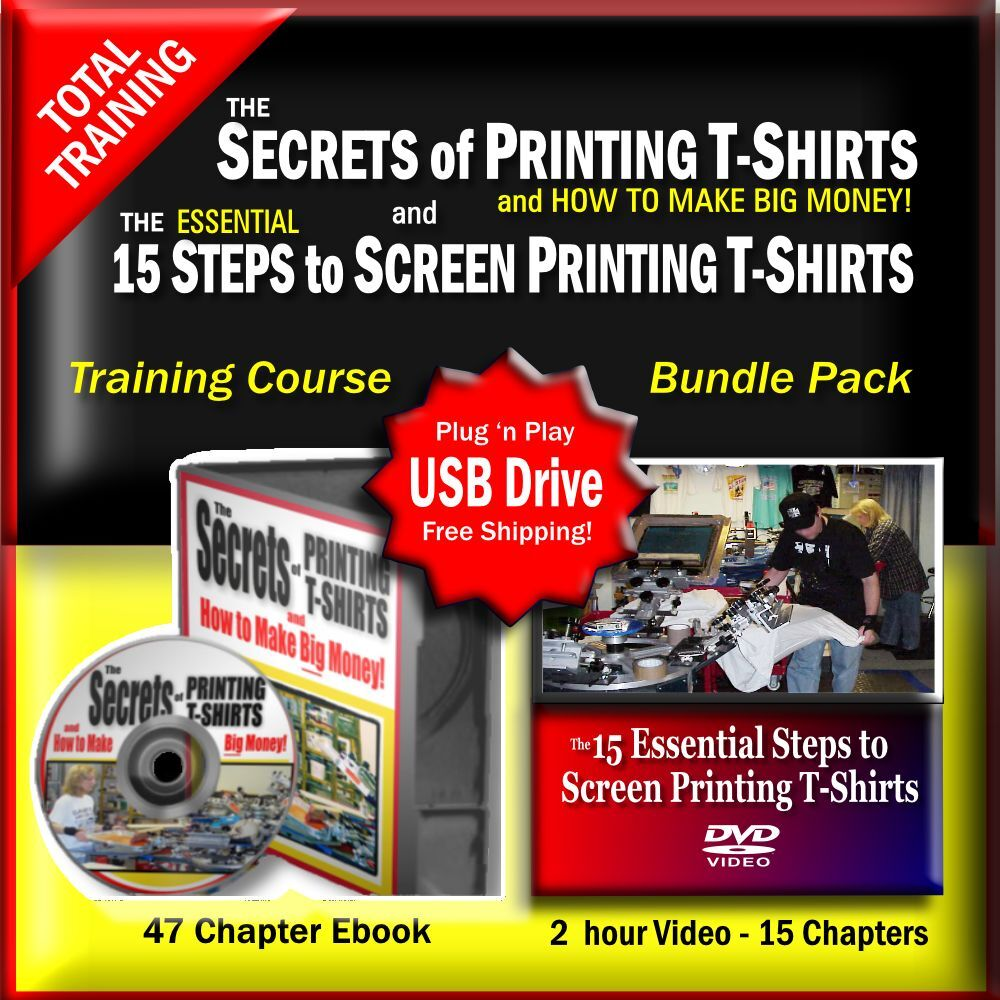 Learn how to print t shirts complete video and pdf book for Books printed on t shirts