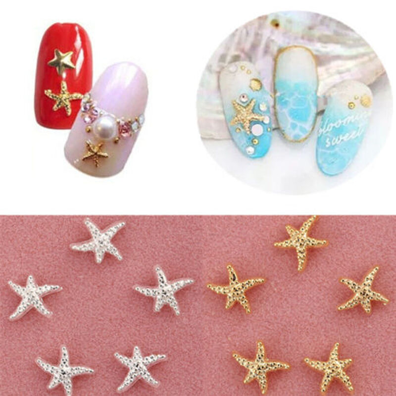 30 100 pcs starfish 3d nail art decoration summer beach for 3d nail art decoration