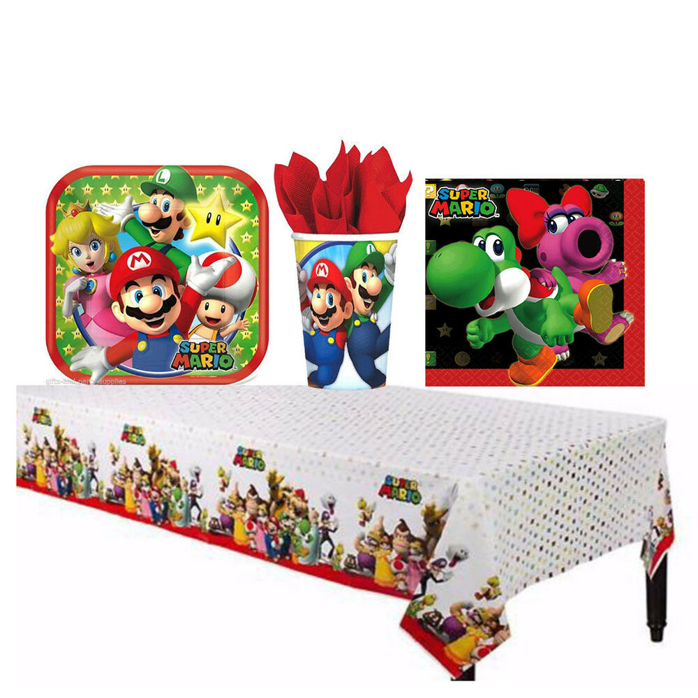 Super mario brothers birthday party supplies decorations for Mario decorations