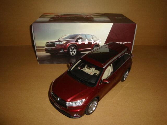 1 18 2015 New Toyota Highlander Red Color Diecast Model