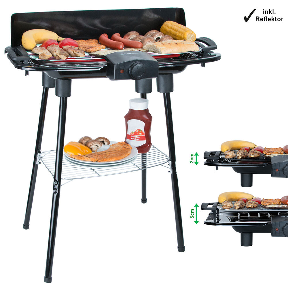 2000w elektrogrill w rmereflektor standf e temperaturregler elektro gartengrill ebay. Black Bedroom Furniture Sets. Home Design Ideas