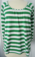 TOGETHER GREEN & WHITE STRIPE TOP SIZE 10 BNWT RRP £40.00