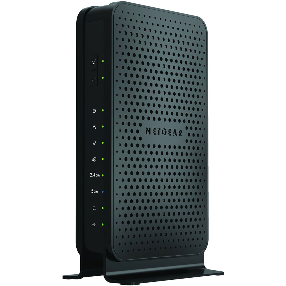 netgear c3700100nas dual band gigabit wifi cable modem router 606449099089 ebay. Black Bedroom Furniture Sets. Home Design Ideas