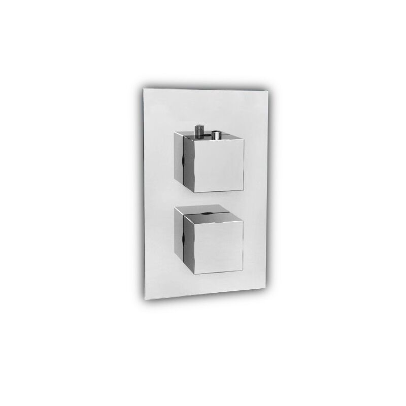 unterputz armatur 2 wege fresh thermostat badewanne dusche chrom fr7136 ebay. Black Bedroom Furniture Sets. Home Design Ideas