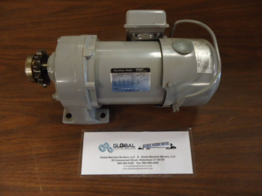 Fuji electric 3 phase geared motor type bssg302p63 ebay for 3 phase dc motor