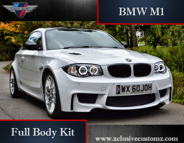 bmw 1m full body kit bmw 1 series e82 or e88 bmw m1 bodykit bmw coupe m body kit ebay. Black Bedroom Furniture Sets. Home Design Ideas