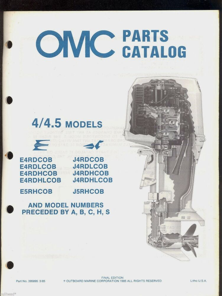 1985 omc johnson evinrude 4 4 5 hp outboard motor for Parts johnson outboard motors