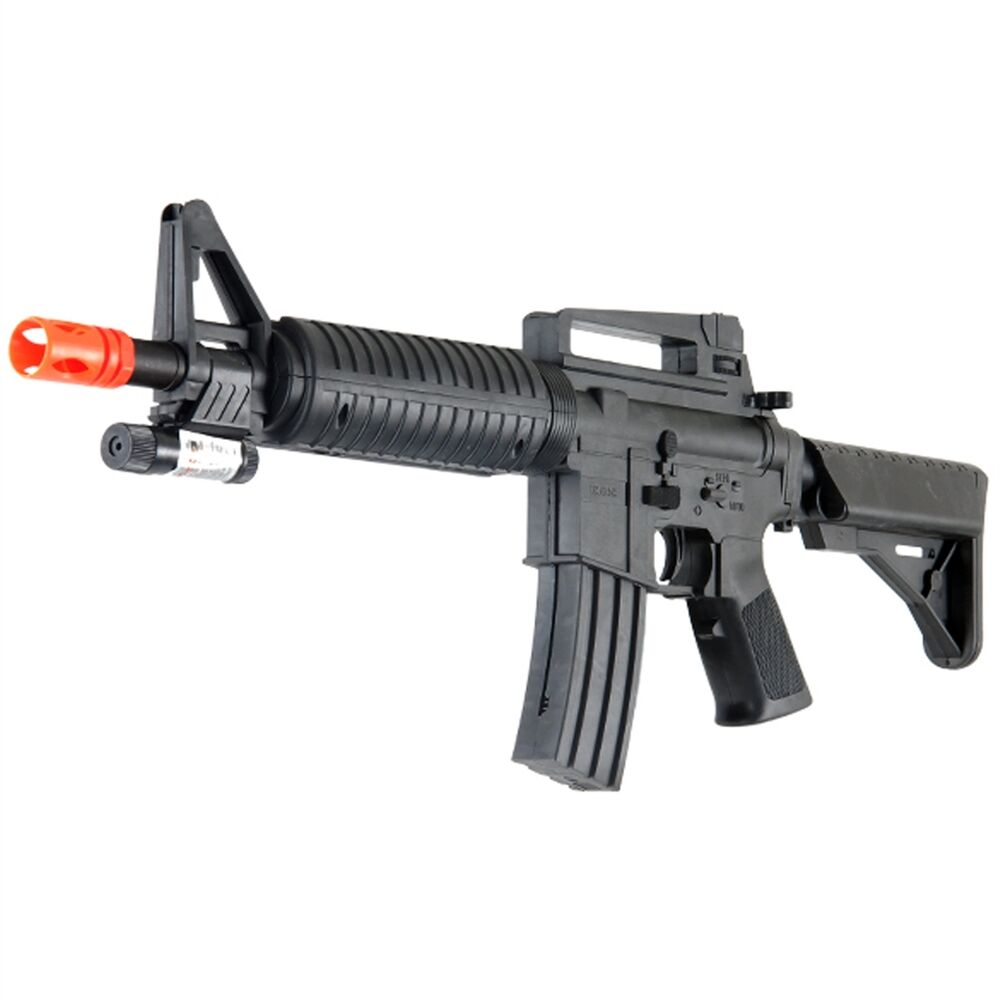 *245FPS* M-16C Tactical Airsoft Spring Rifle with LASER ... M16 Airsoft Gun