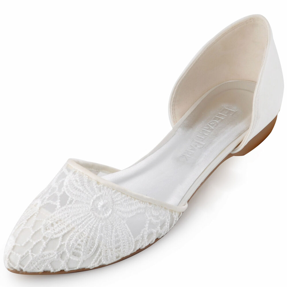 Satin Flat Shoes For Wedding