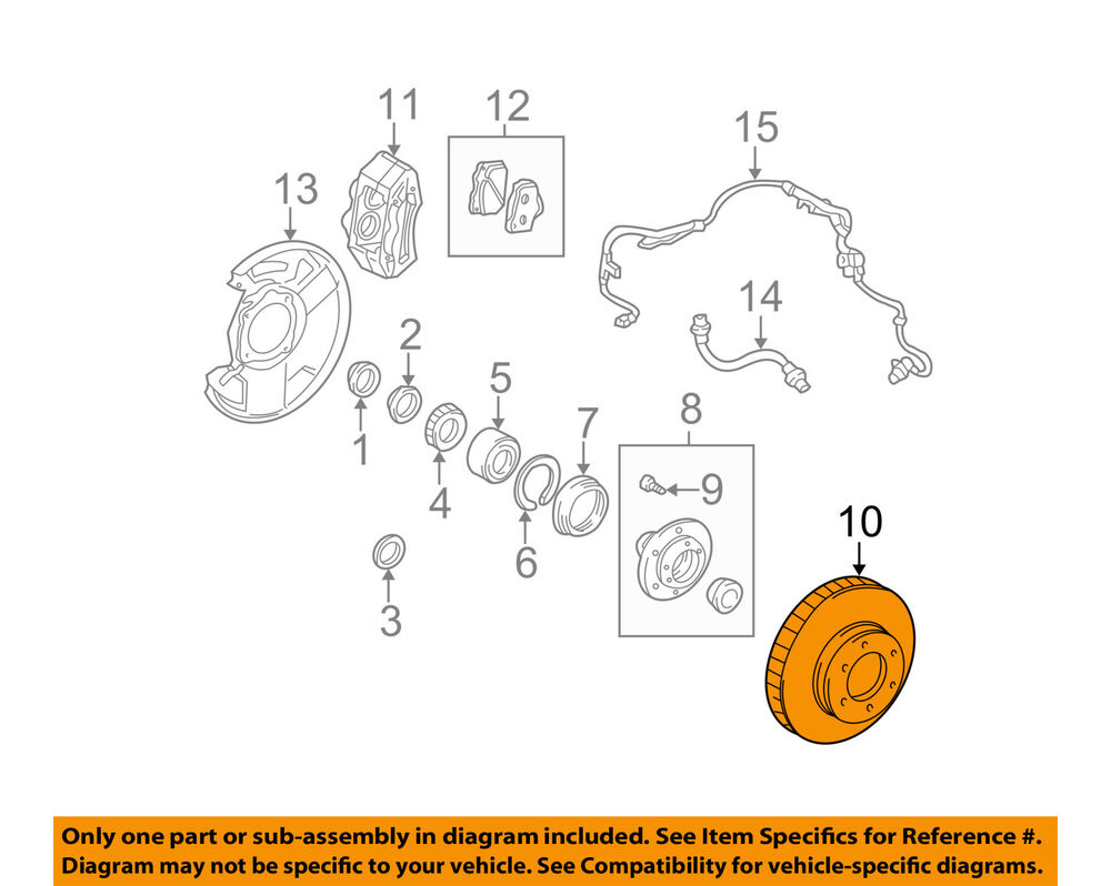 Toyota Sequoia Oem Parts Diagram Everything About Wiring 2001 00 06 Tundra Front Brake Disc Rotor 435120c011 2003