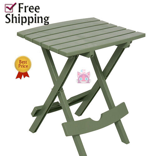 Quick Fold Small Sturdy Side Table Patio Durable Furniture