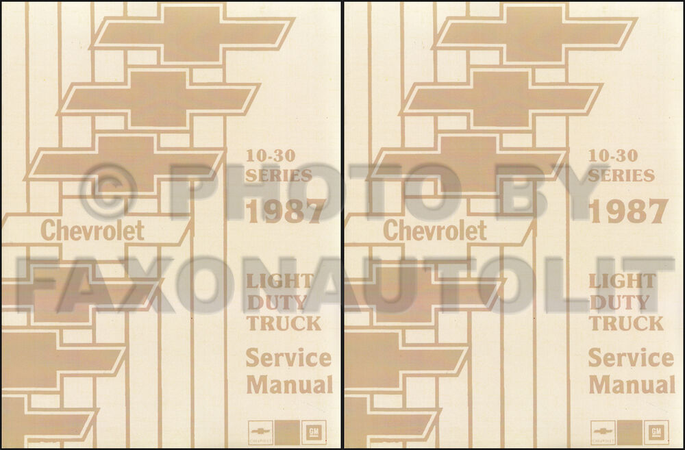 1987 Chevy Shop Manual K5 Blazer Suburban Van Sportvan