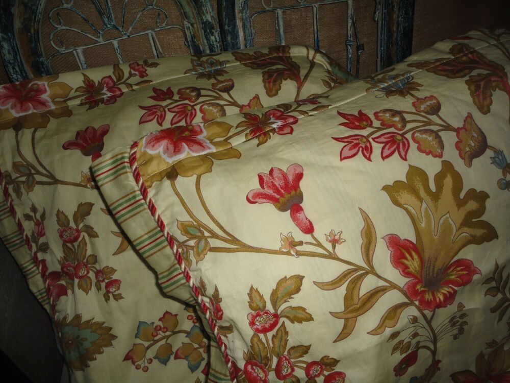 ROSE TREE PACIFIC FLORAL (PAIR) BUTTON UP KING PILLOW