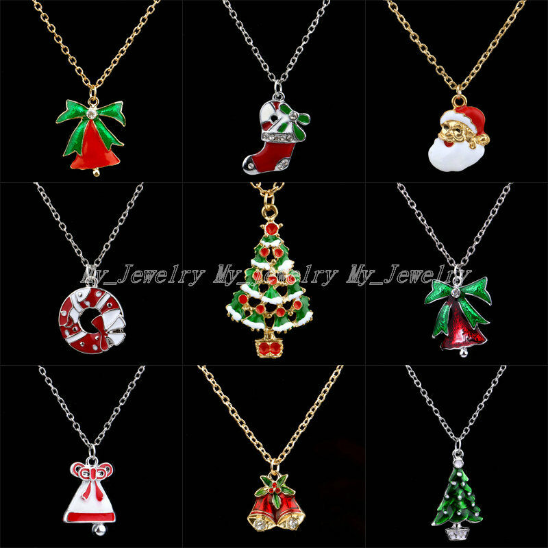Fashion Cute Pendant Necklace Gift Jewelry Christmas Bell ...
