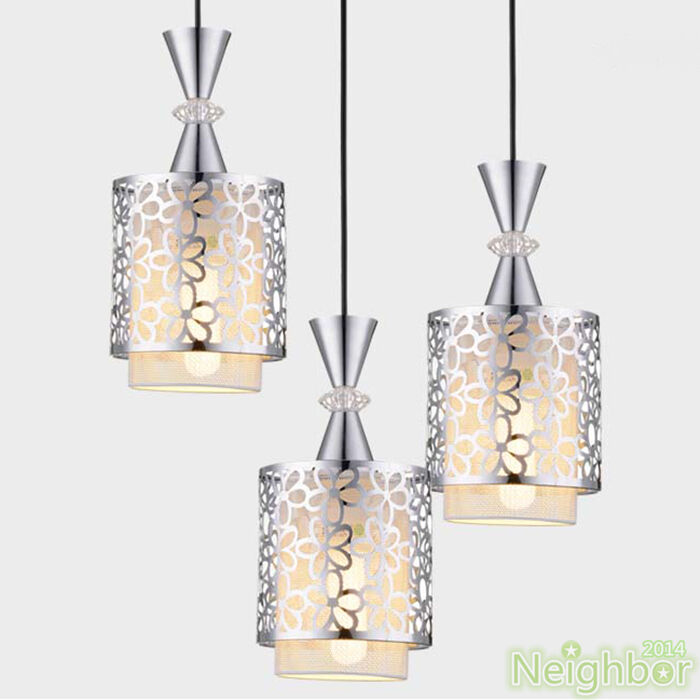 Modern crystal iron ceiling light pendant lamp dining room for Modern crystal chandelier for dining room