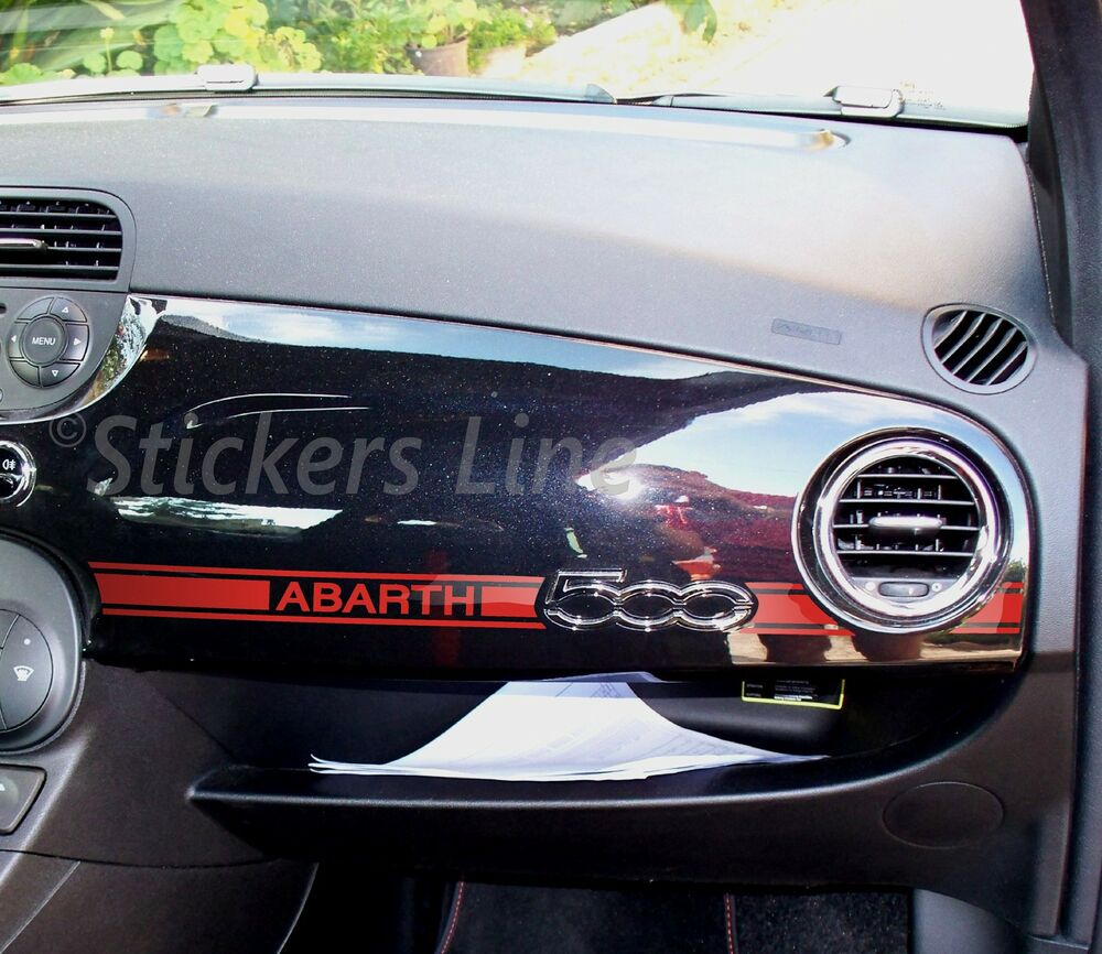 adesivo fiat 500 abarth stickers fiat 500 plancia ebay. Black Bedroom Furniture Sets. Home Design Ideas