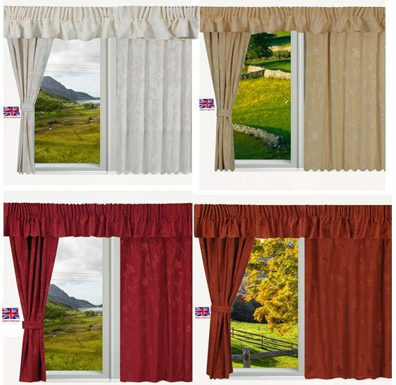 Static Fully Lined Ready Made Caravan Curtains Premium