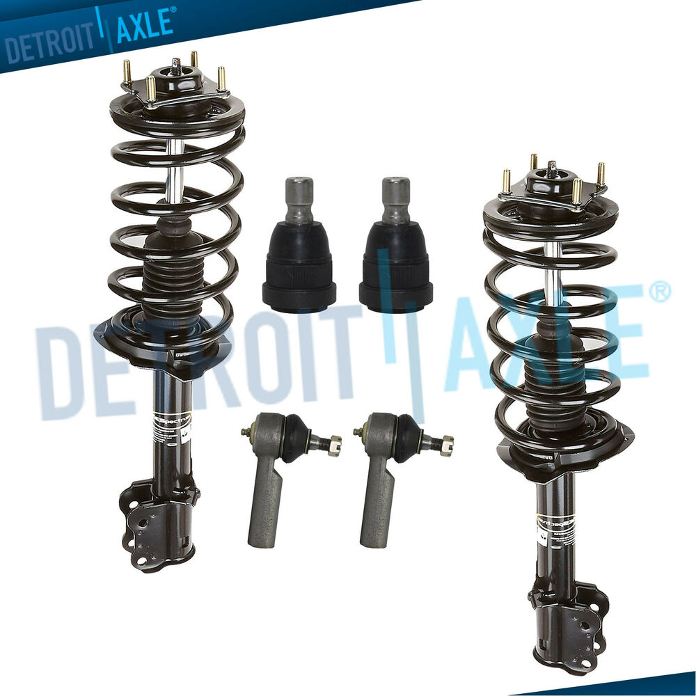 1996 Mazda Protege Suspension: 6pc Front Strut Lower Ball Joint TieRod 2001-2007 Ford