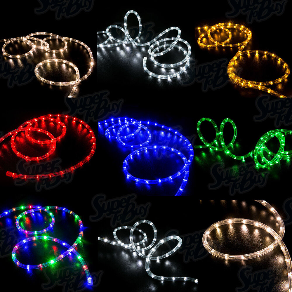 Led Rope Light Tinsel Bauble: LED Rope Lights 10' 25' 50' 100' 150' Feet 2 Wire Accent